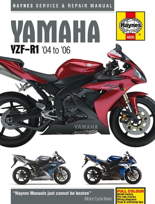 Yamaha yzf-r1 04-06 haynes manual;9781844256051
