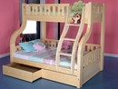 Childrens Luxury Solid Pine Wood Double Triple Bunk Bed With Drawers