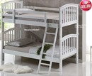 White Bunk Beds | Cosmos White Wooden Bunk Bed | White Painted Bunks