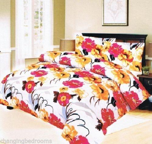 Changingbedrooms Com Double Size Golden Flower Duvet Cover
