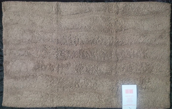 Latte Biege 100 Egyptian Cotton Heavy Deep Pile Rug Bath Mat 52cm X 84cm