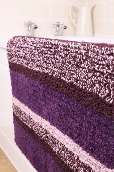 Changingbedrooms Com Purple Aurbergine Multi Tone Stripe