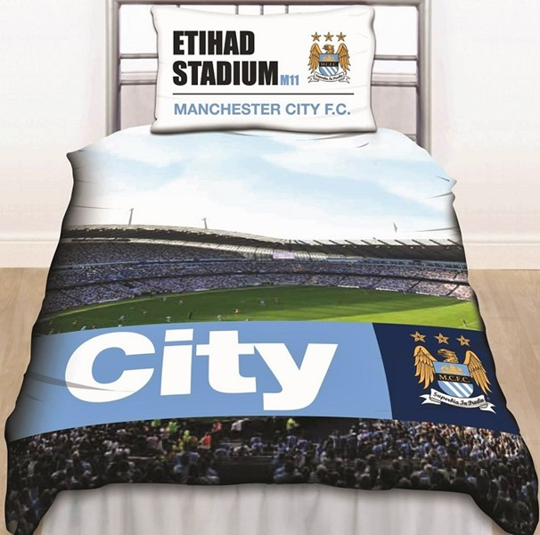 Changingbedrooms Com Single Size Licensed Manchester City
