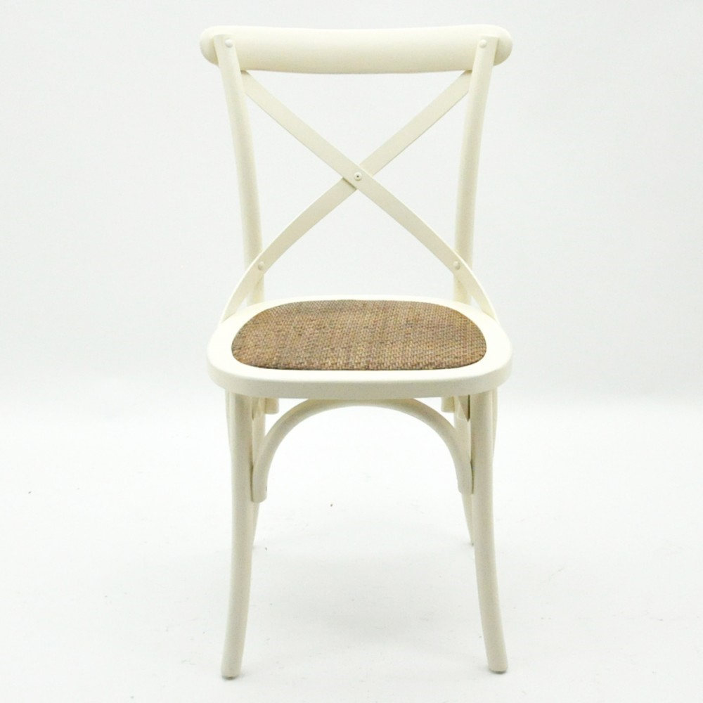 6x Cintra Cross Back / bent wood Dining Chair - Ivory