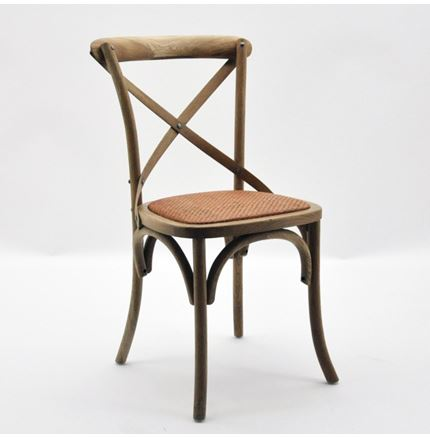 6x Cintra Cross Back / bent wood Dining Chairs - Natural oak finish