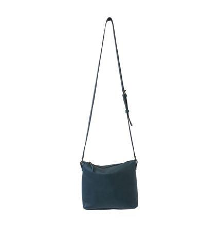 ATILO Leather Shoulder Bag in Teal