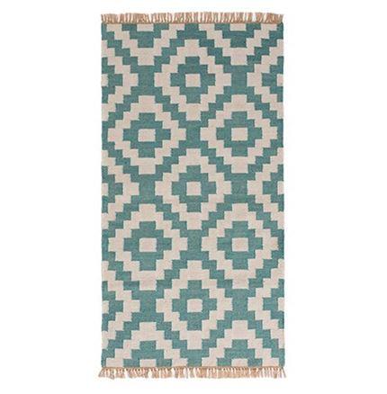 Aqua outdoor kilim rug, 75 x 135cm