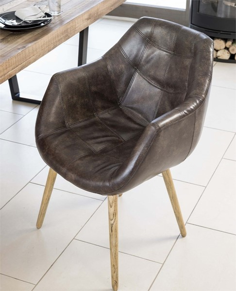 bailey tub dining chair real leather