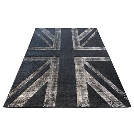 Buckingham charcoal wool rug - 160 x 230cm