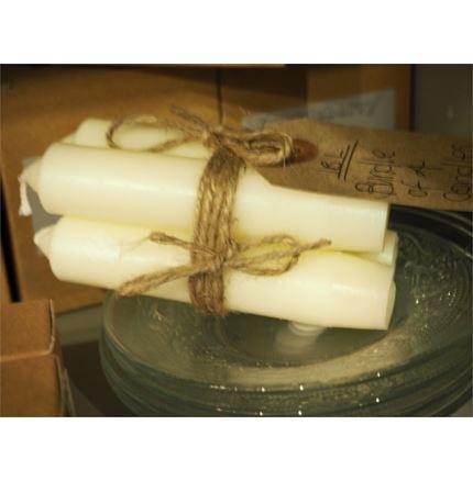 Bundle of 4 candles - Cream