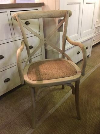 CARVER VERSION - Rhone Cross Back / bent wood Dining Chair - Light oak