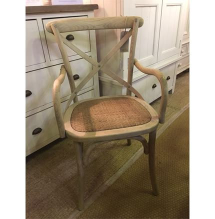 CARVER VERSION - Rhone Cross Back / bent wood Dining Chair - Light oak