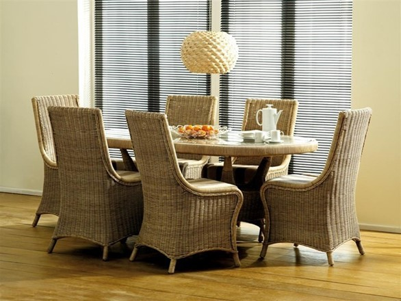 Cane Conservatory Dining Sets