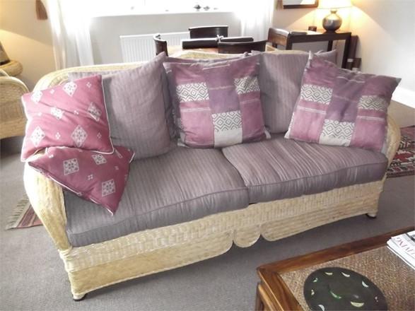 Cane Furniture Clearance - Ex Display Kiani 6 piece set including 3 seater sofa