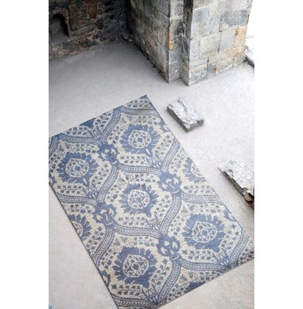 Carolina Grey Printed wool rug - 160 x 230cm