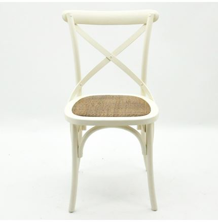 Cintra Cross Back / bent wood Dining Chair - Ivory