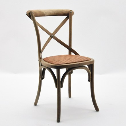Cintra Cross Back / bent wood Dining Chair - Natural oak