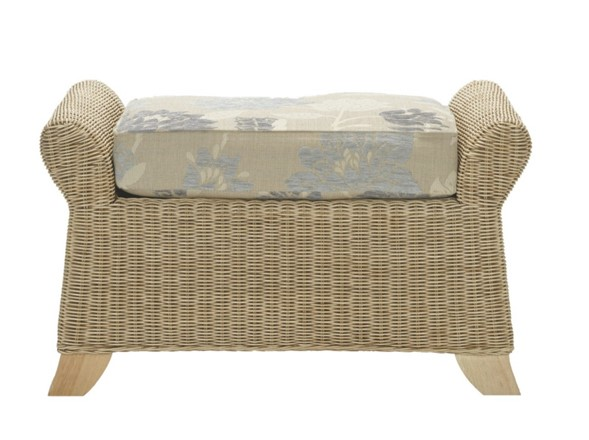 Clifton Footstool - Cane Furniture by Desser