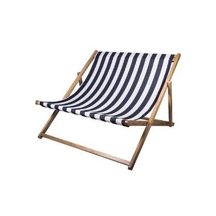 DOUBLE DECK CHAIR 'REST' - blue stripe