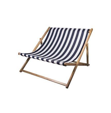 DOUBLE DECK CHAIR 'REST' - blue stripe