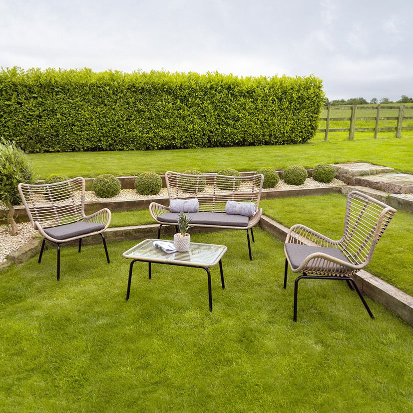 Fairfield 4 Piece Seating Set - Outdoor Rattan Furniture