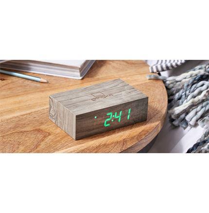Gingko Flip Cilck Clock - Ash