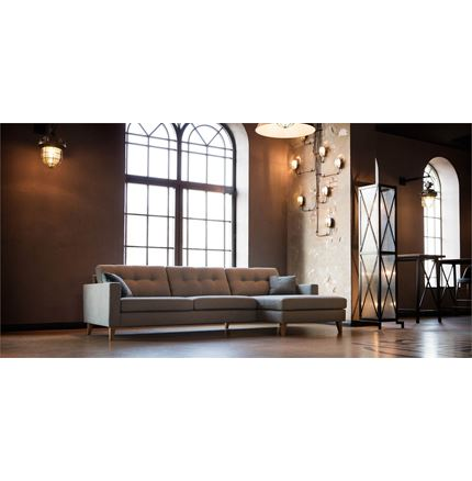 Giorgio 3 seater corner Sofa with chaise 1 by Sits