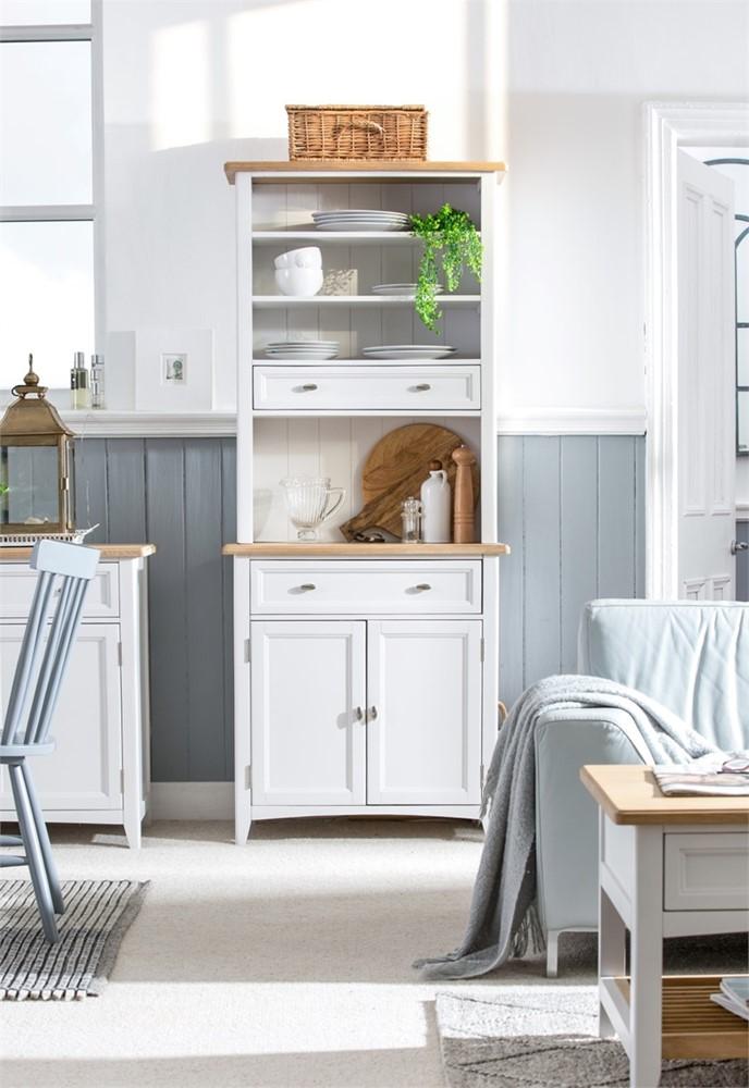 Grasmere Dining Furniture - Narrow Dresser Complete 80cm wide