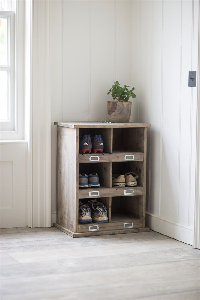 Hall Storage Bench Chedworth Shoe Locker With 6 Cubby Holes
