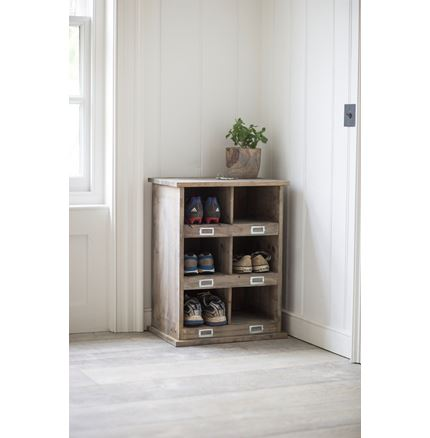 Hall Storage Bench - Chedworth Shoe Locker with 6 cubby holes