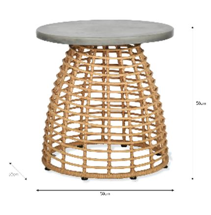 Hampstead Side Table - Outdoor Rattan Furniture