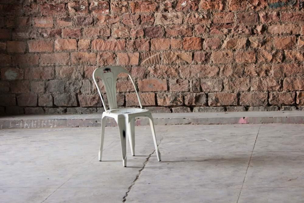 Hyatt Industrial Bakers Cafe Chair - Off White