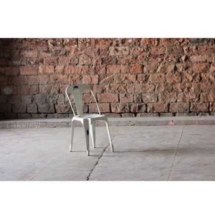 Hyatt Industrial Bakers Cafe Chair - Off White