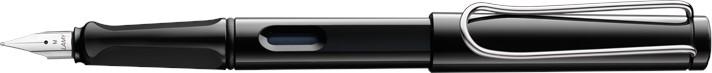 Lamy Safari Black Fountain Pen + Free pk(5) Blue ink cartridges