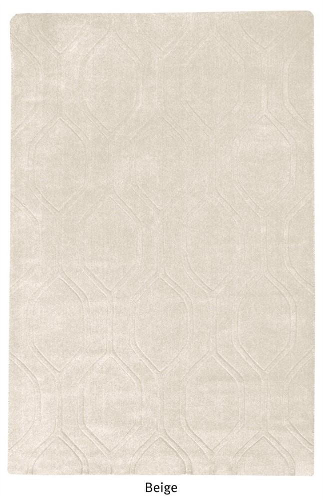 Leo Beige wool rug - 160 x 230cm