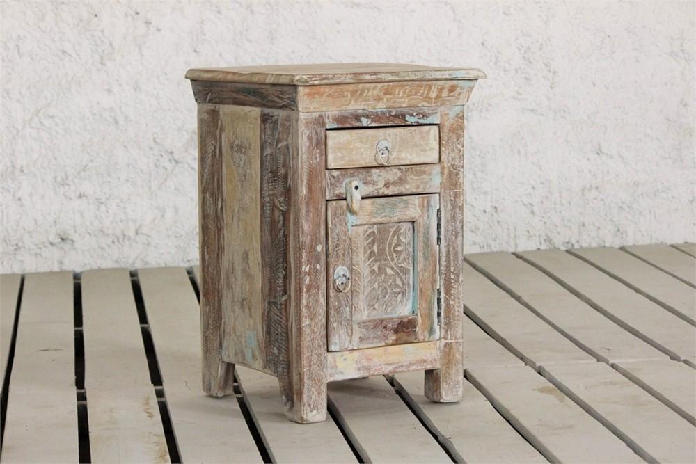Little Tree Reclaimed Furniture - Whiteleaf Bedside Table