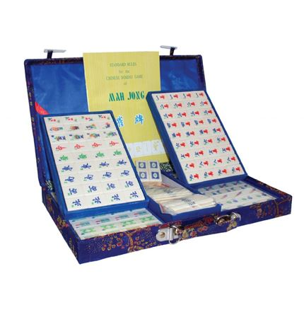 Mah-jong set Brocade - Small - Blue