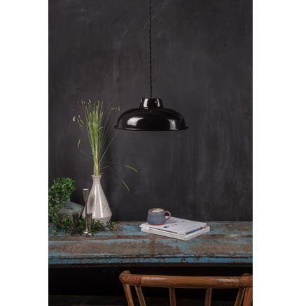 Medium Enamel Light - Lamp shade - Black