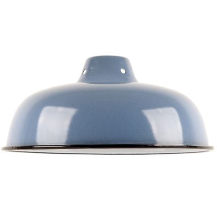 Medium Enamel Light - Lamp shade - Blue - 10inch Dia