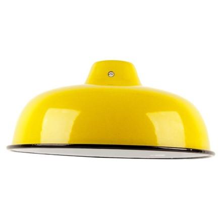 Medium Enamel Light - Lamp shade - Yellow - 10inch Dia