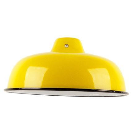 Medium Enamel Light - Lamp shade - Yellow - 10inch Dia