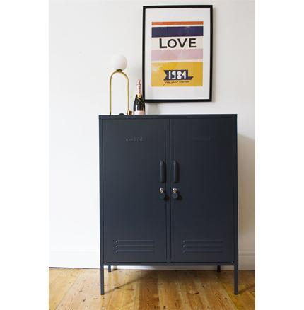 Midi Locker by Mustard Made - Slate Gray