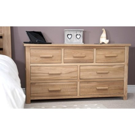 Opus Oak 7 Drawer Multi Chest.