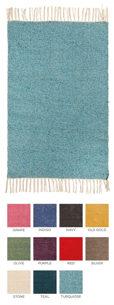 Plain Recycled Yarn Rug - 120 x 180cm - assorted colours