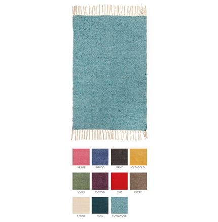 Plain Recycled Yarn Rug - 90 x 150cm - assorted colours