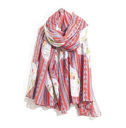 RED - SCARF - KATIE ALMOND HEART - Hem & Edge by Onebutton