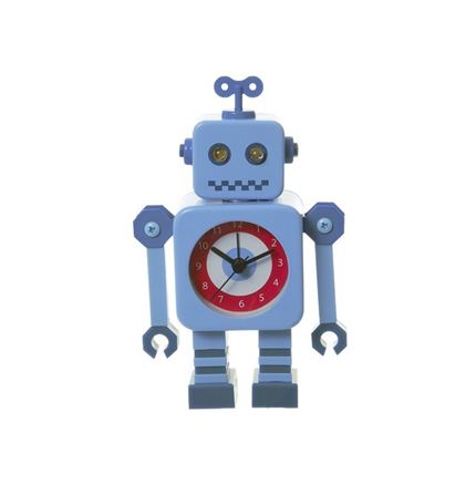 Robot Alarm Clock - Blue