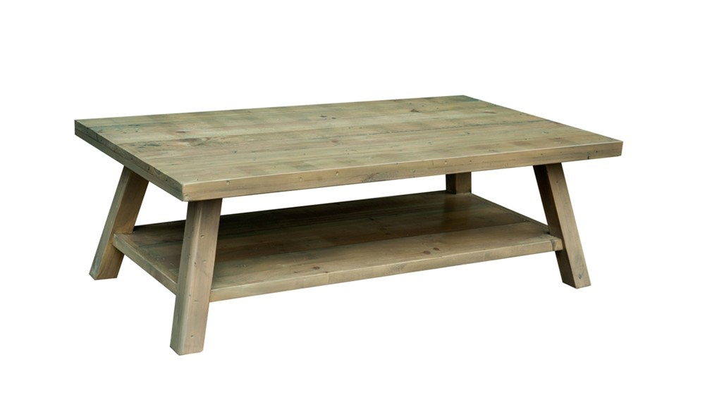 Rustica dining furniture coffee table with shelf 120 x70 for Coffee table 70 x 70