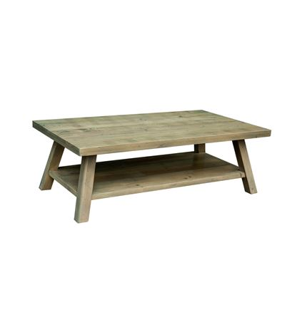 Rustica Dining Furniture - Coffee table with shelf 120 x70