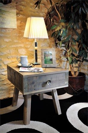 Rustica Dining Furniture - Side Table  with 1 drawer
